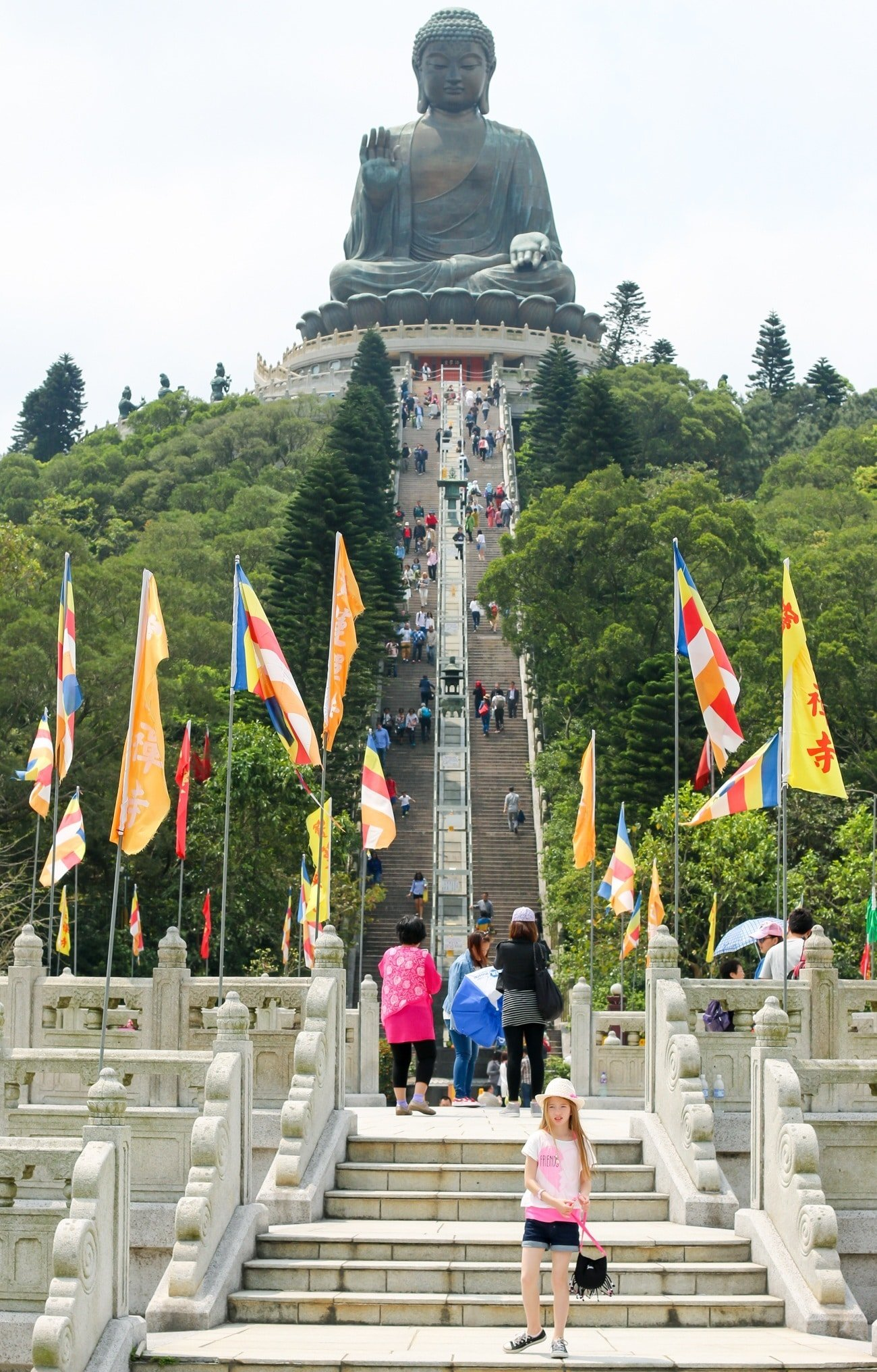 There are 268 steps up to the Big Buddha in Hong Kong