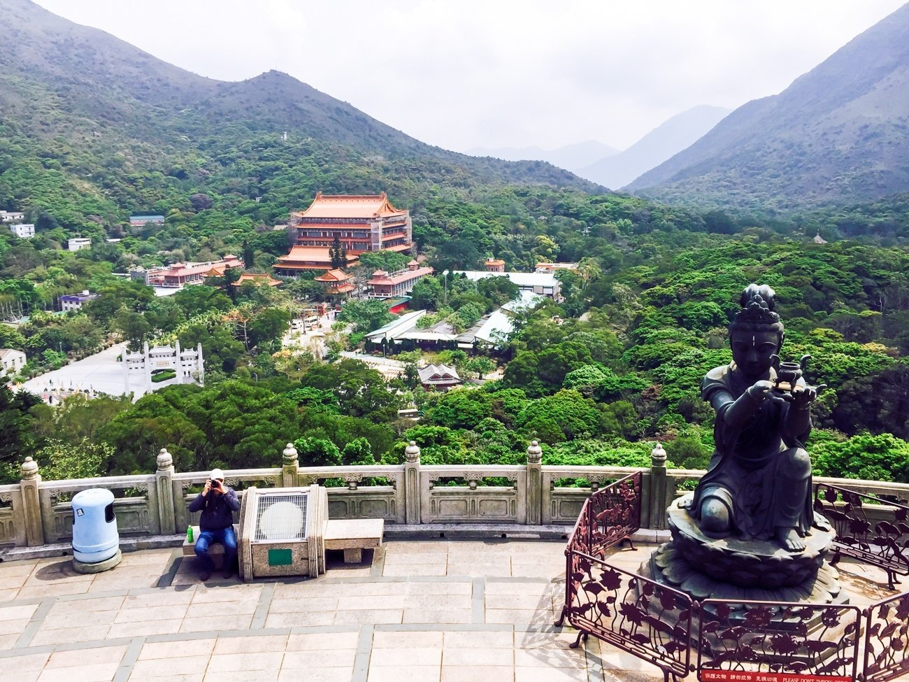 View to the Po Lin Monastery from the Big Buddha in Hong Kong