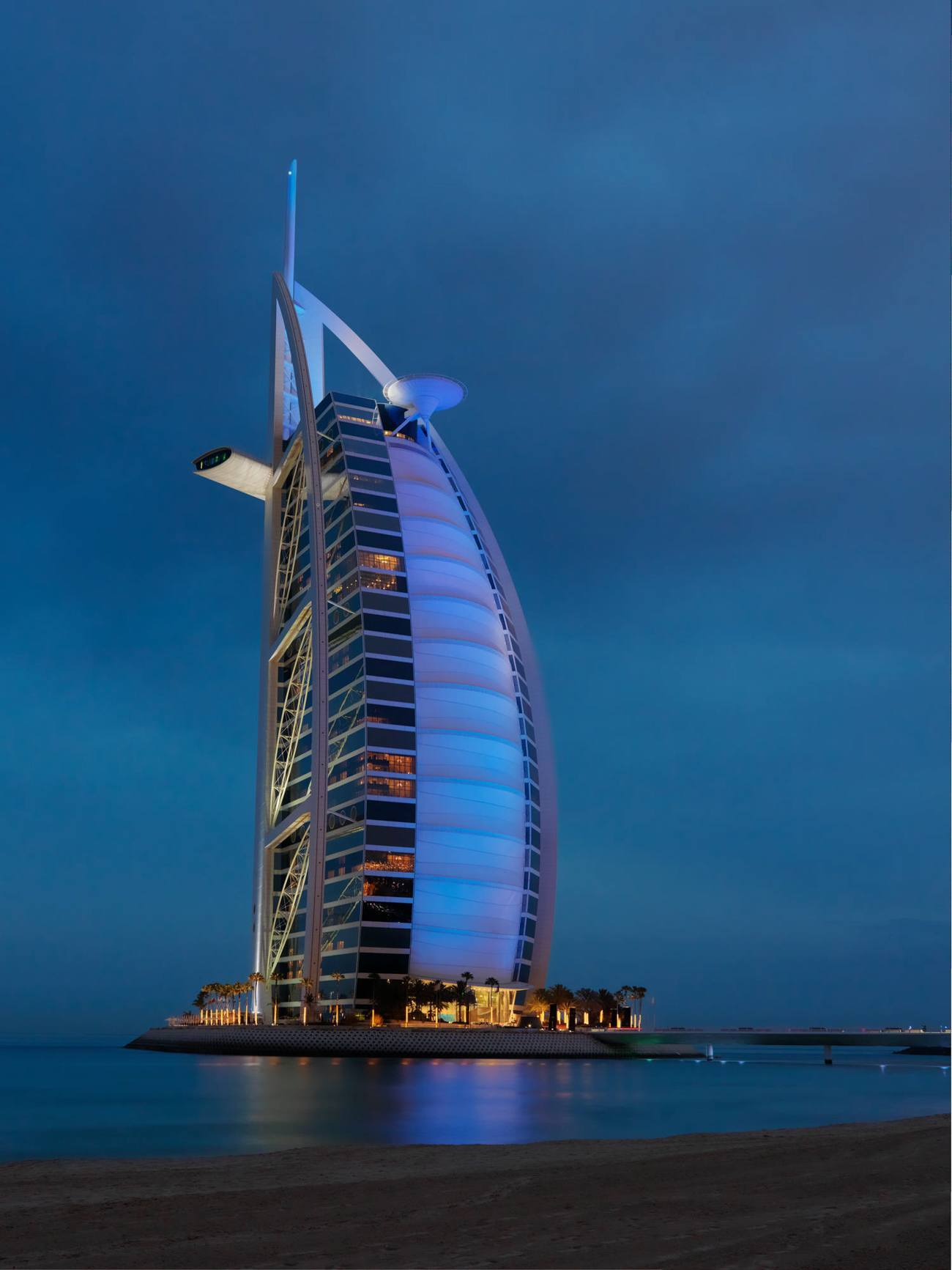 The seven-star Burj al Arab in Dubai