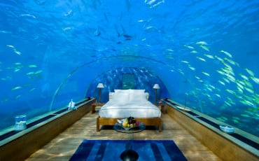 Underwater suite at Conrad Maldives