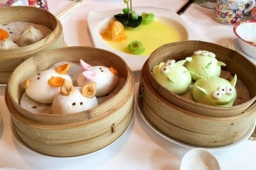 Hong Kong Disneyland dim sum at Crystal Lotus