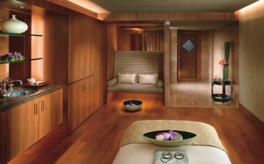 A spa treatment room at Mandarin Oriental, Hong Kong