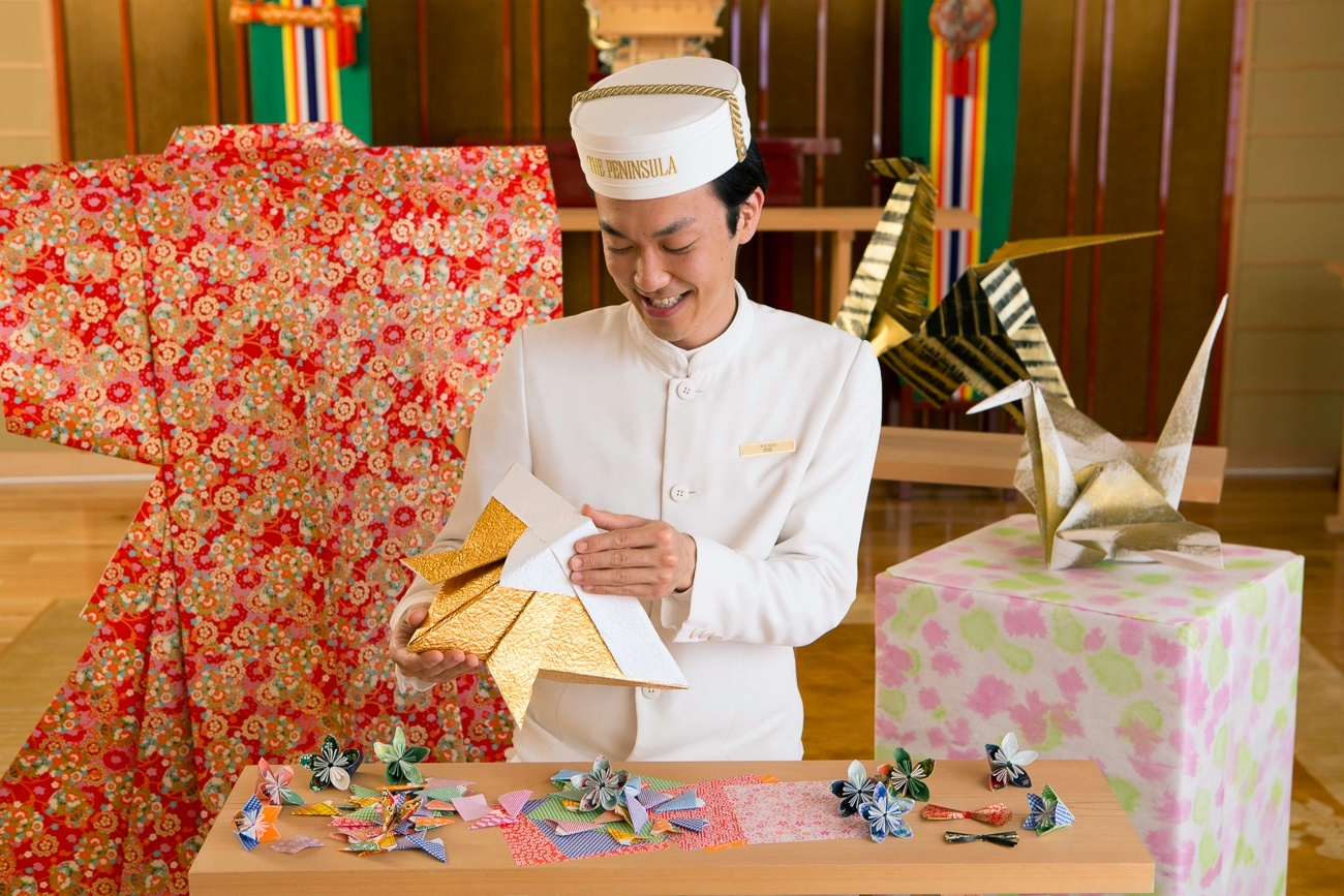 The Peninsula Tokyo's Academy includes origami folding for kids