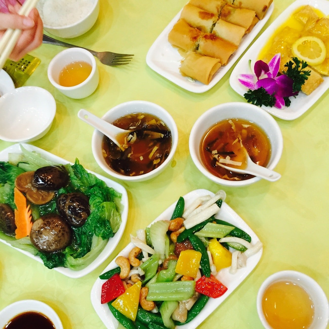 Po Lin Monastery Deluxe Vegetarian Lunch at the Big Buddha in Hong Kong