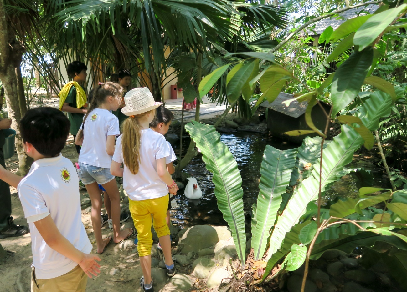 Kids at during the Ranger Experience at Shangri-la's Rasa Ria Nature Reserve