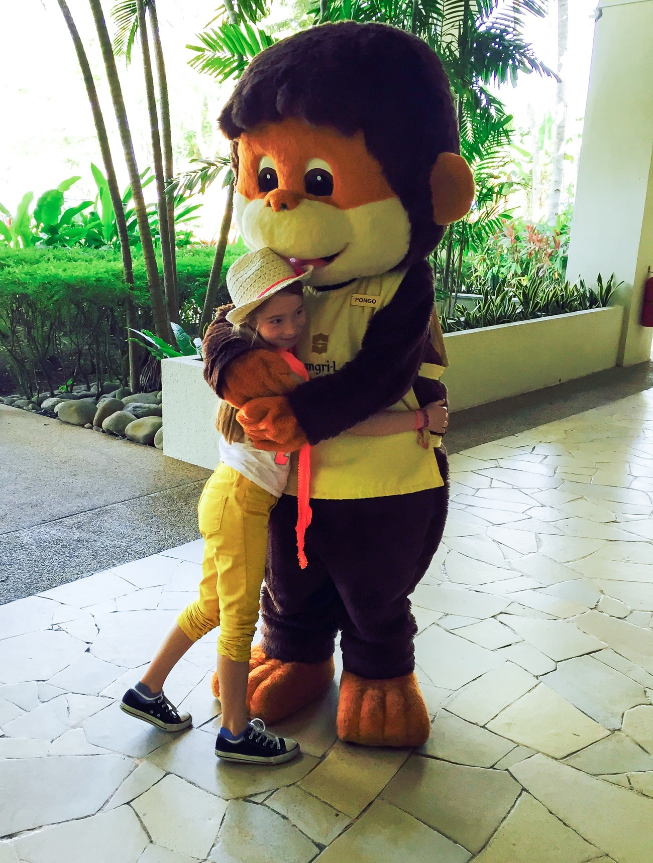 Shangri-la's Rasa Ria Resort and Spa mascot Pongo the orangutan