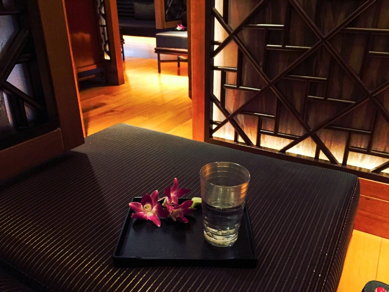 Tea room at The Mandarin Spa in Hong Kong