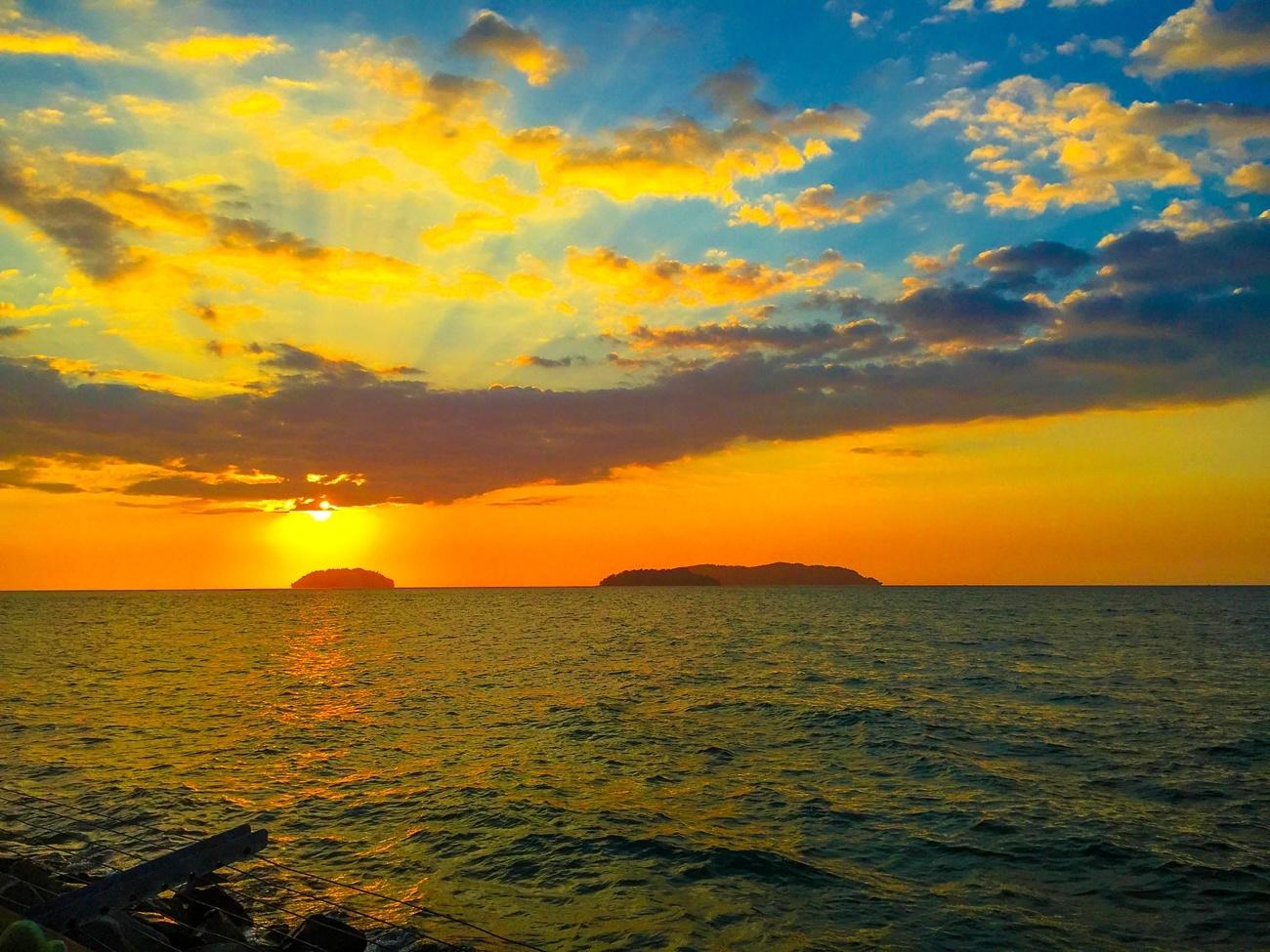 The sunset from Kota Kinabalu, Sabah, Malaysian Borneo