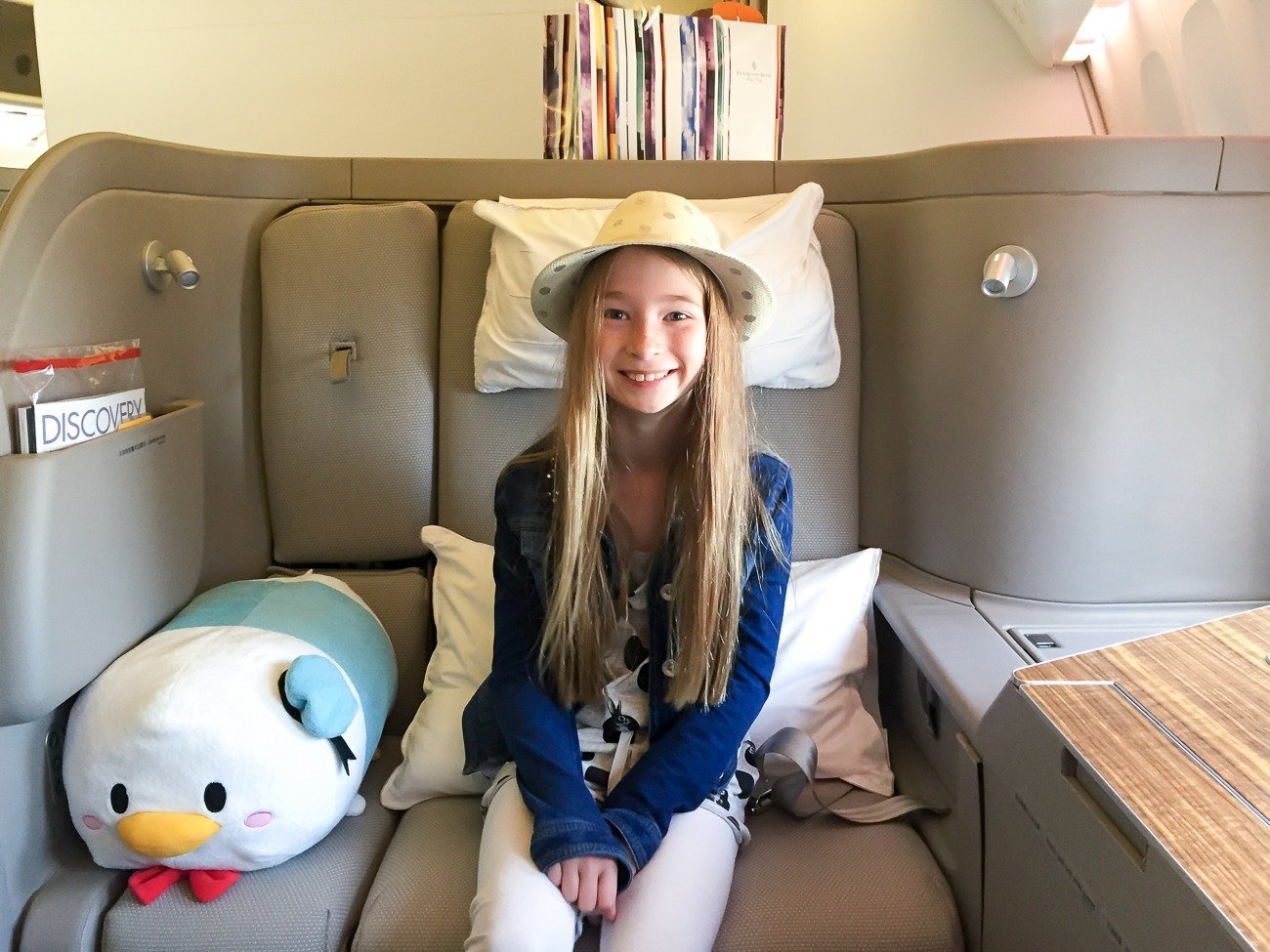 Where to sit in Cathay Pacific first class with kids