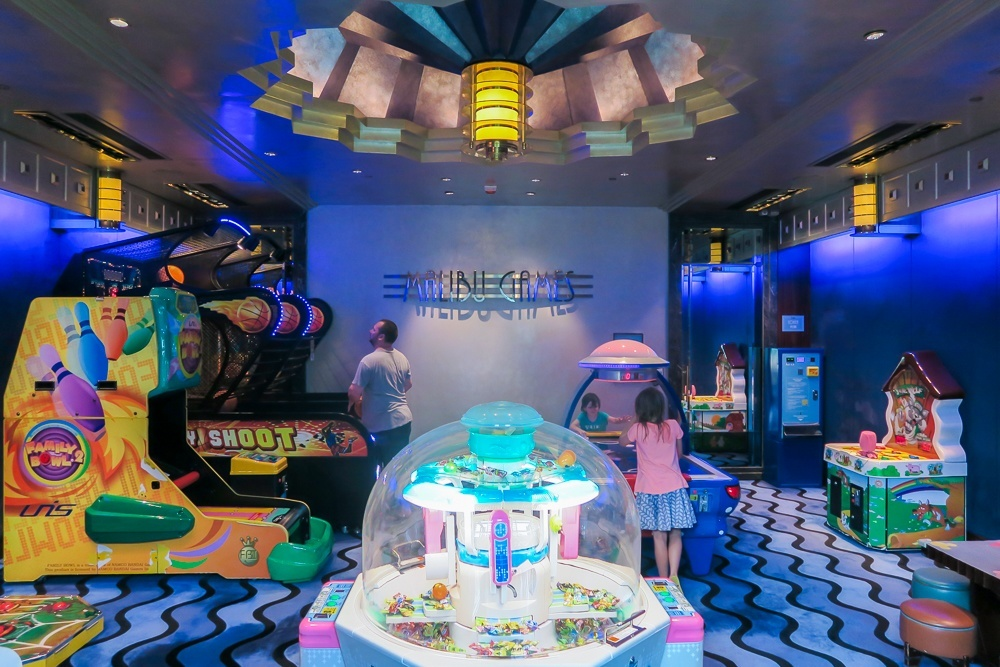 The game room at Disney's Hollywood Hotel in Hong Kong
