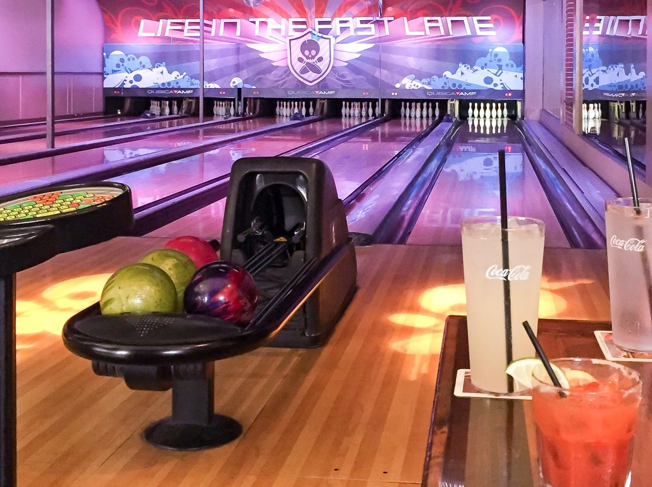 The lanes at East Village Tavern and Bowl