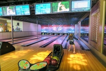 Go upscale bowling at East Village Tavern and Bowl in San Diego