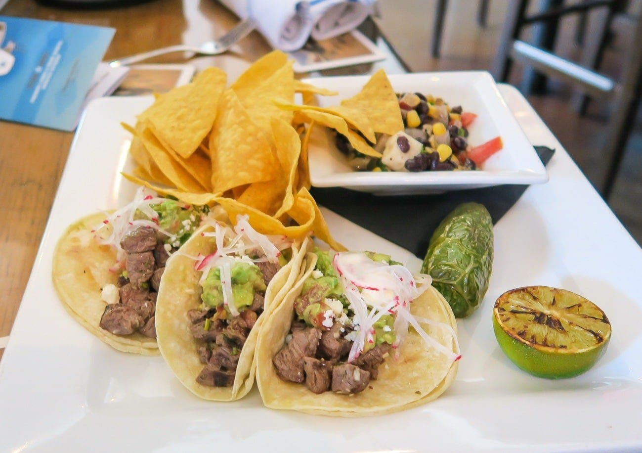 Amazing tacos at East Village Tavern and Bowl in San Diego