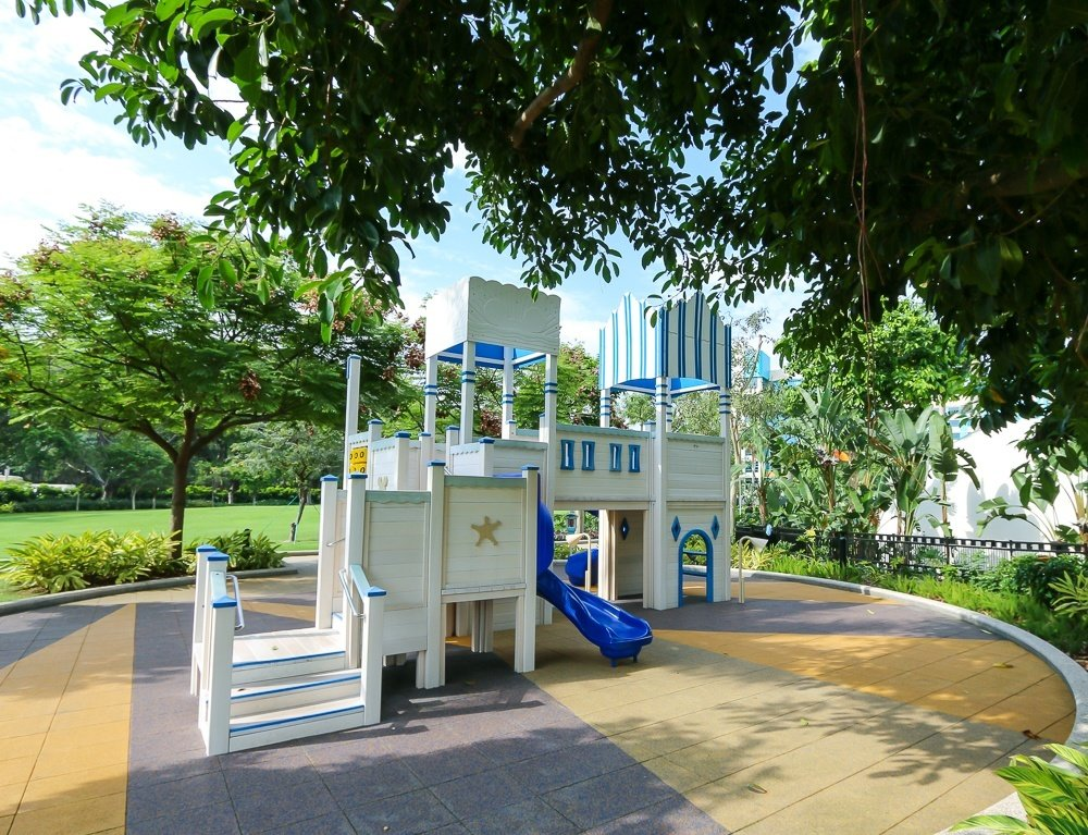 Outdoor play area at Disney's Hollywood Hotel in Hong Kong