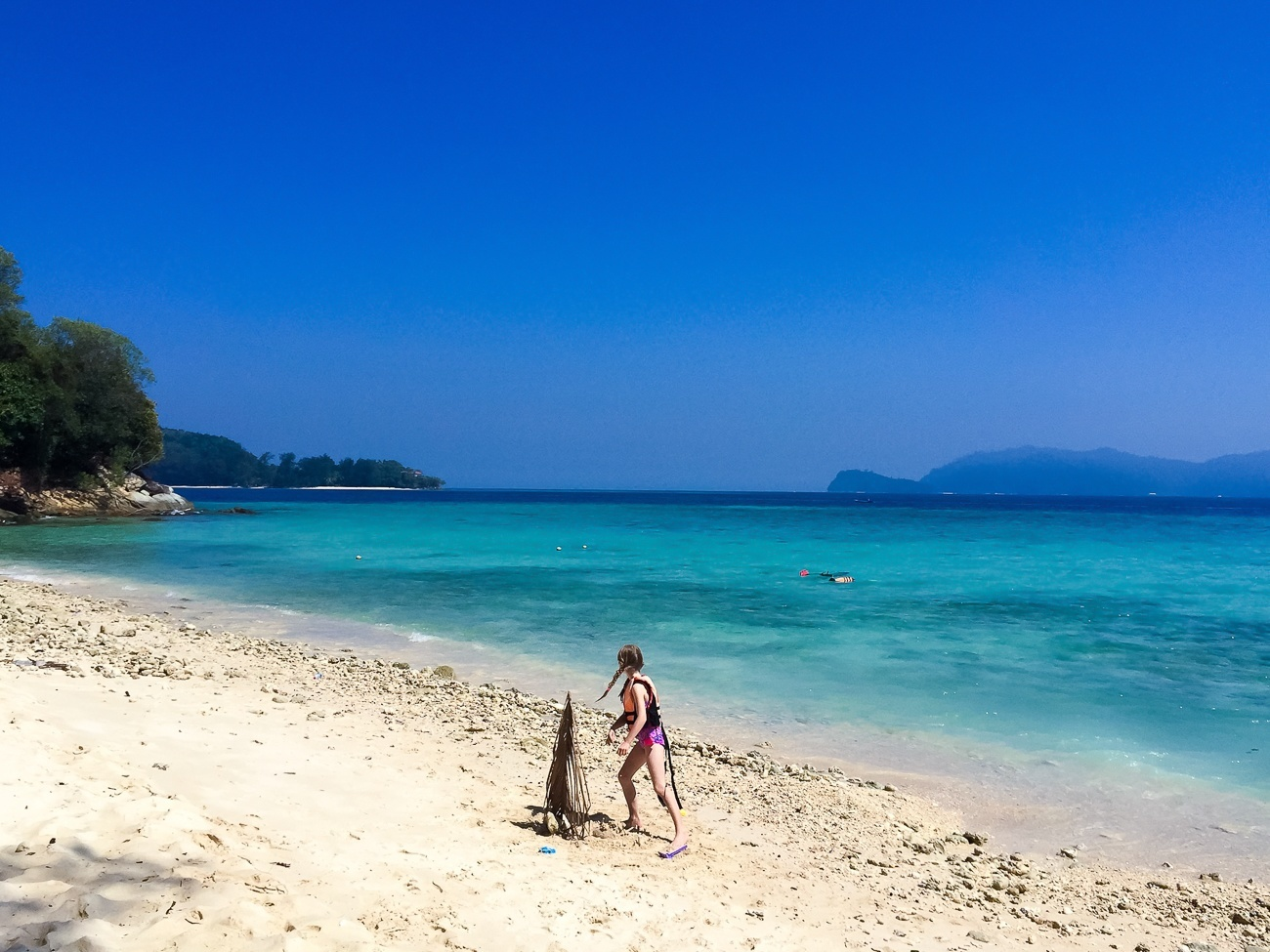 Kids will love the beach and tropical fish in the waters of Mamutik Island, Kota Kinabalu