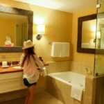 Spacious bathroom at Park Hyatt Aviara Resort in Carlsbad