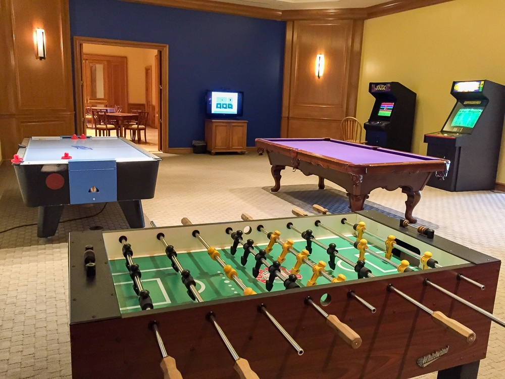 Game room at the Park Hyatt Aviara Resort in Carlsbad