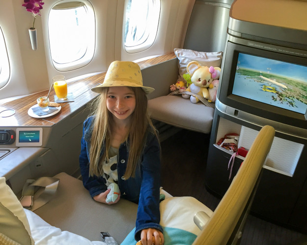 Review of how luxurious it is to fly in Cathay Pacific first class.