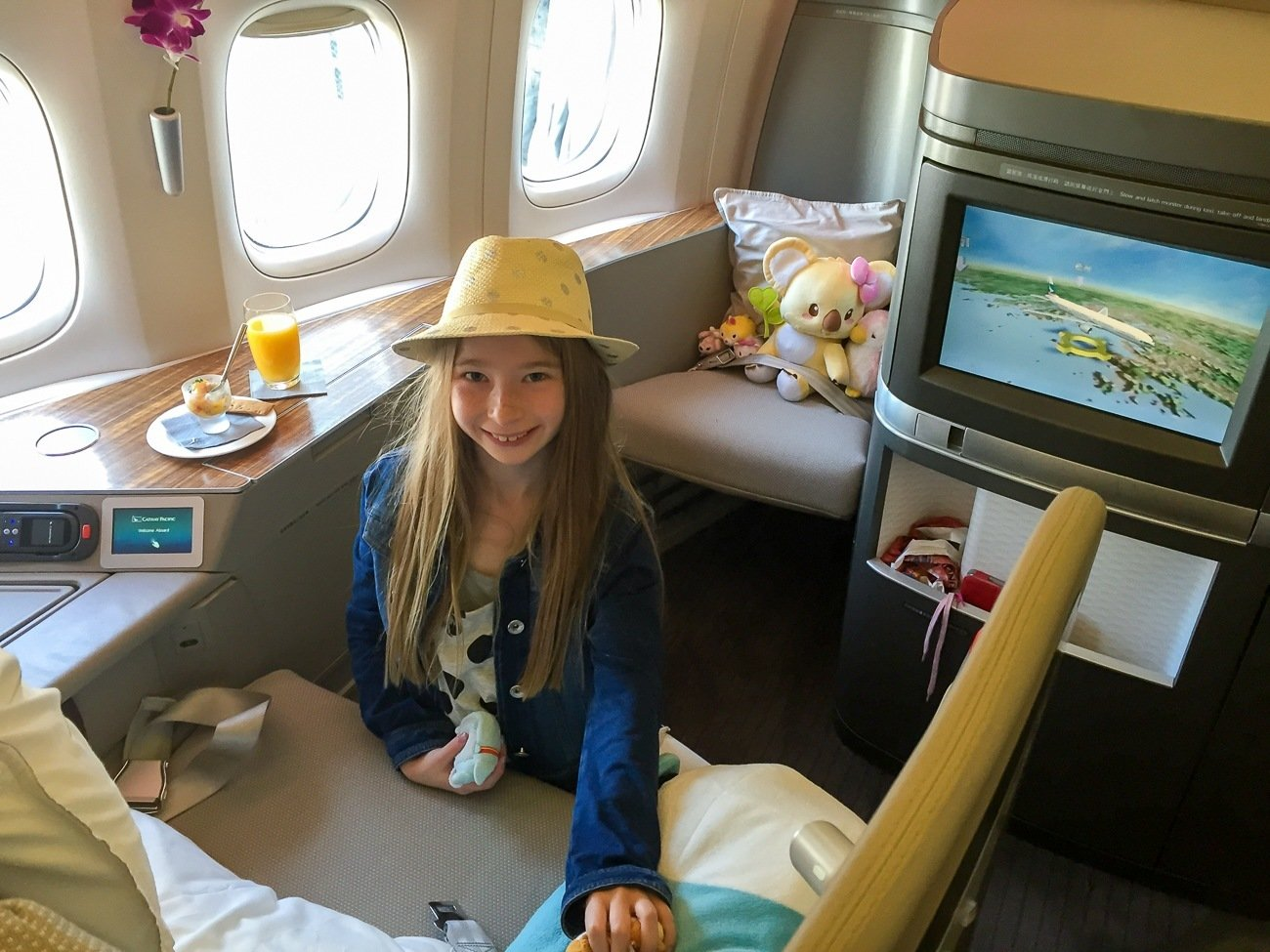 A review of the luxurious Cathay Pacific first class.