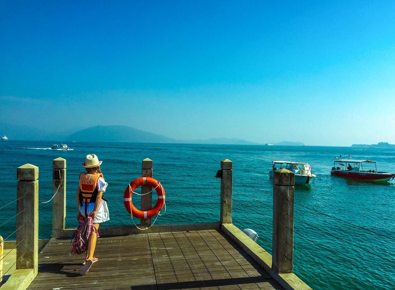 The private STAR Marina jetty at Shangri-la's Tanjung Aru Resort and Spa, Kota Kinabalu