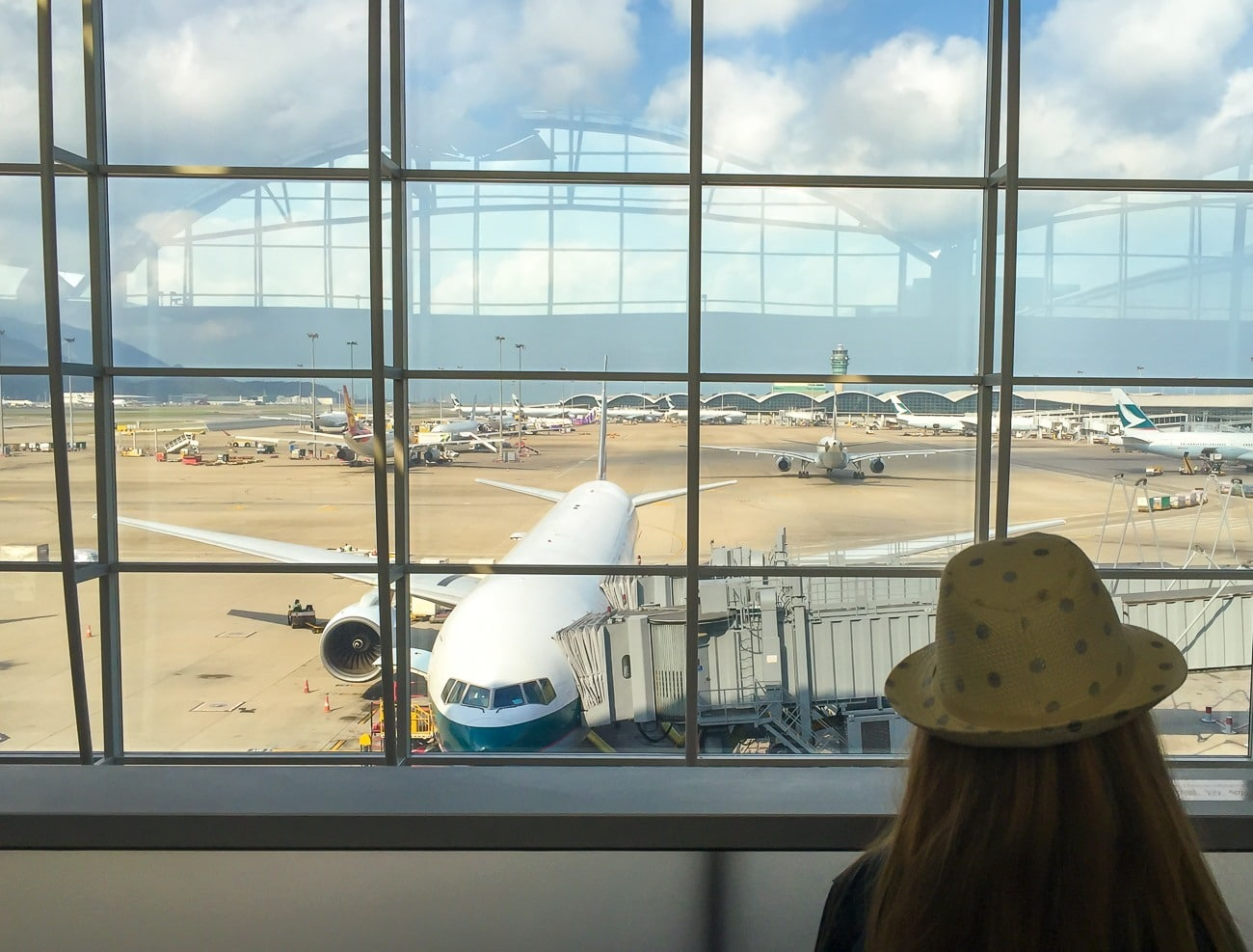 View from The Wing first class lounge at Hong Kong International Airport: Cathay Pacific First Class review