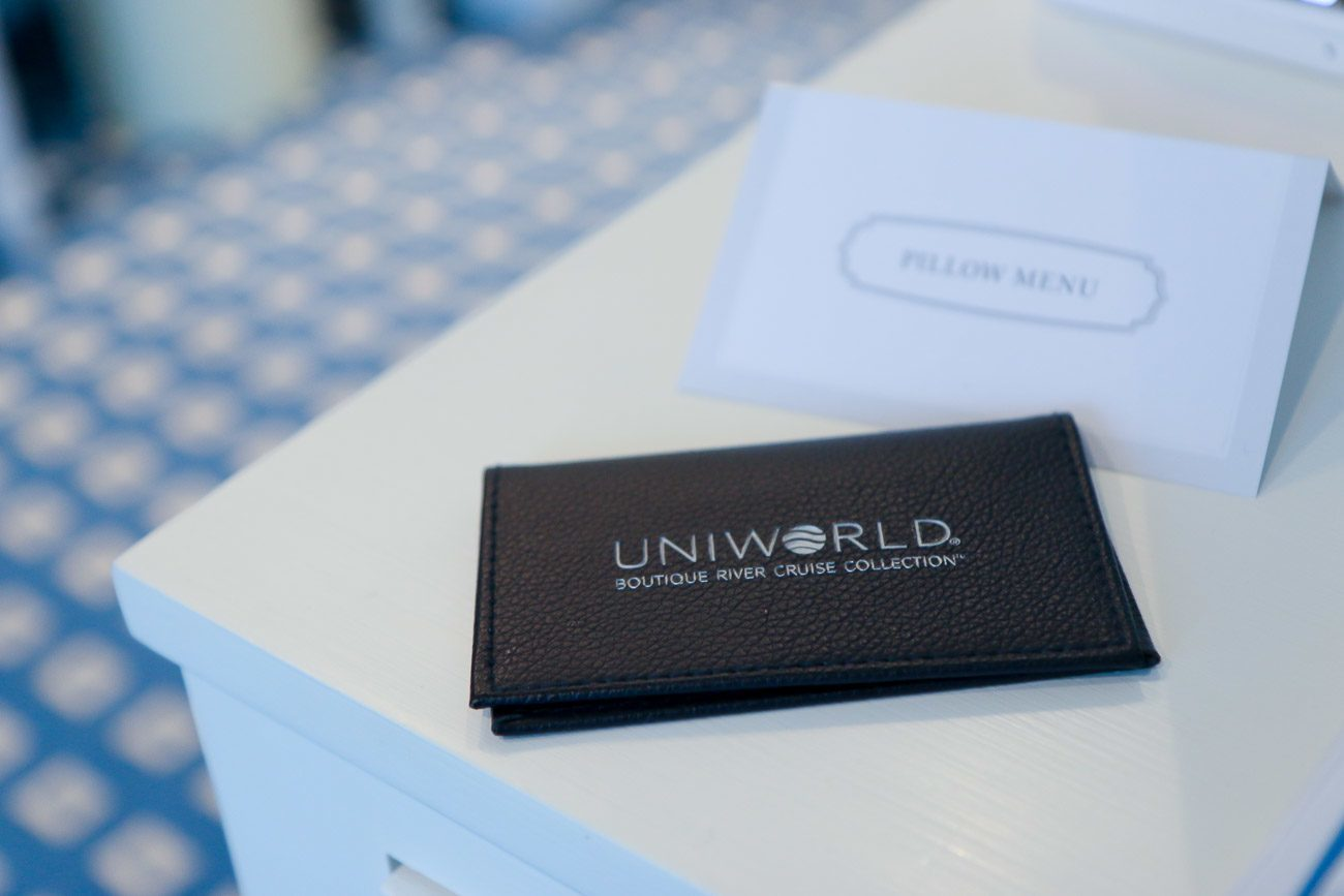 Uniworld tracks who is onboard with a scannable key card.