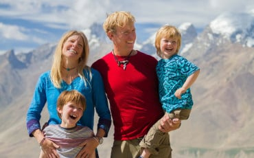 This family traveled 13,000 miles with two young kids to a remote monastery in northern India