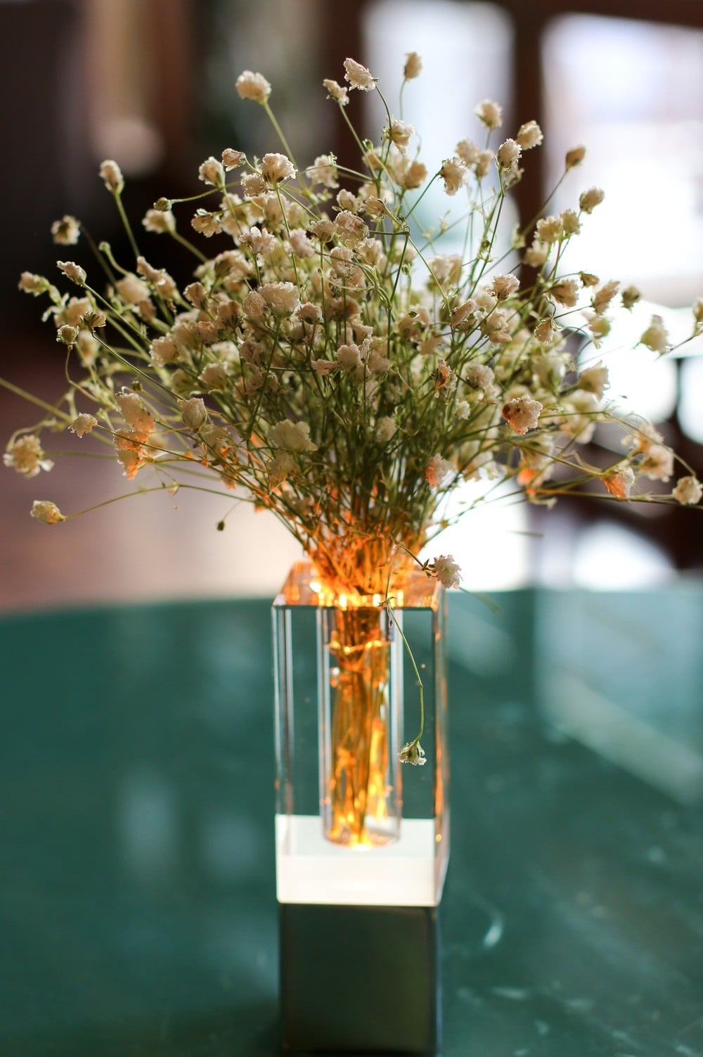 Loved this baby's breath flower arrangement at Peppino restaurant in Kota Kinabalu
