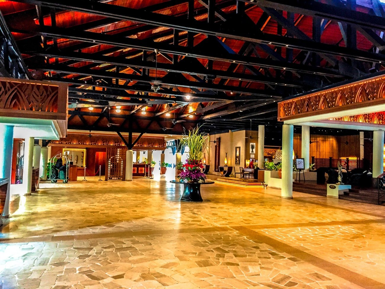 The lobby at Shangri-la's Tanjung Aru Resort and Spa in Kota Kinabalu