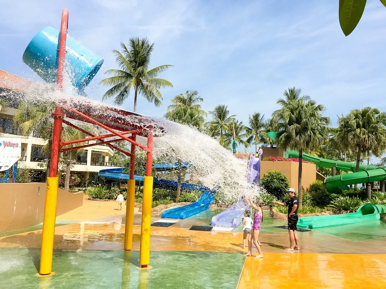 Kids love the water play area at Shangri-la's Tanjung Aru Resort and Spa in Kota Kinabalu