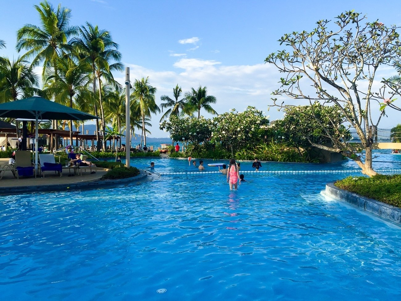 Shangri-la's Tanjung Aru Resort and Spa oceanfront pool is excellent for all ages.