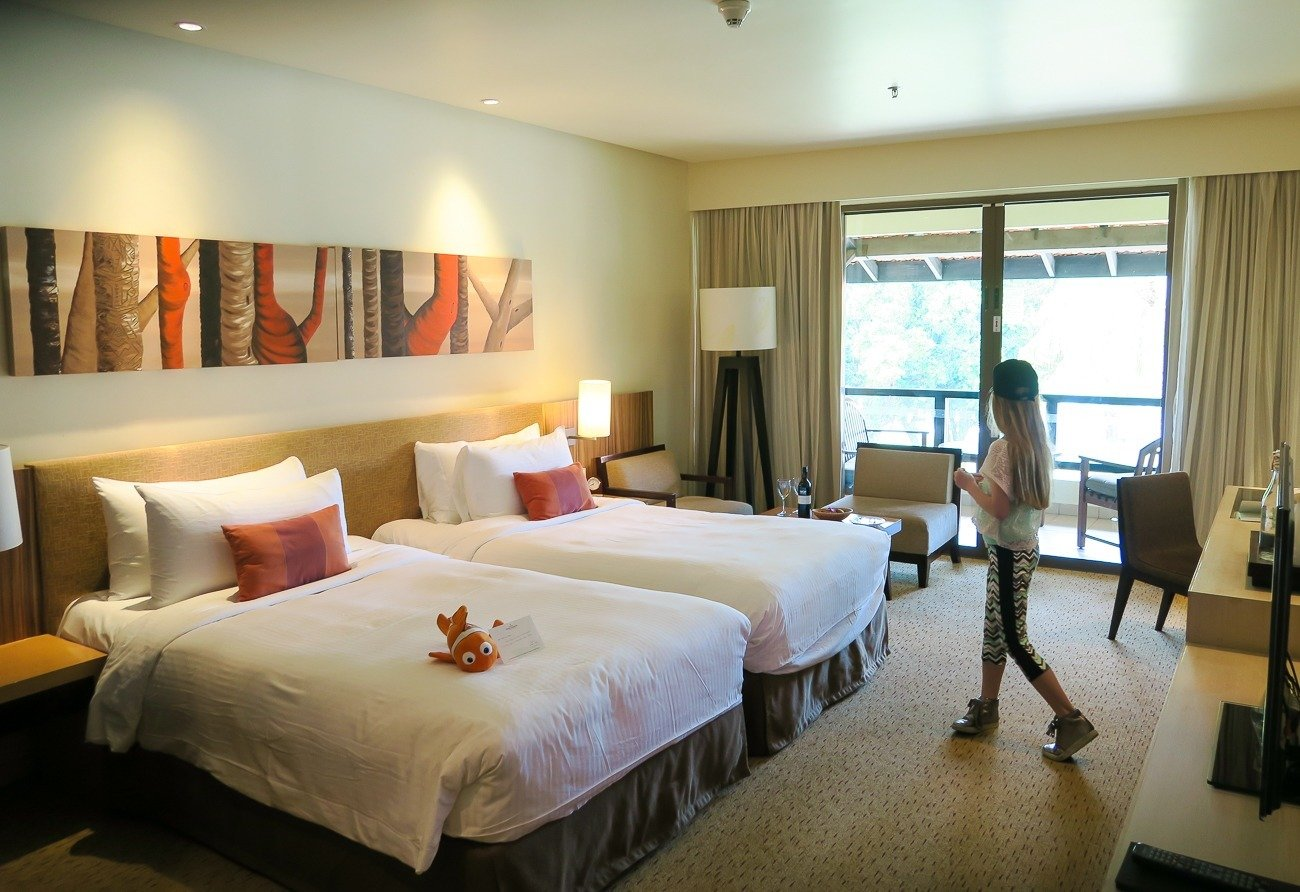 Our room at Shangri-la's Tanjung Aru Resort and Spa