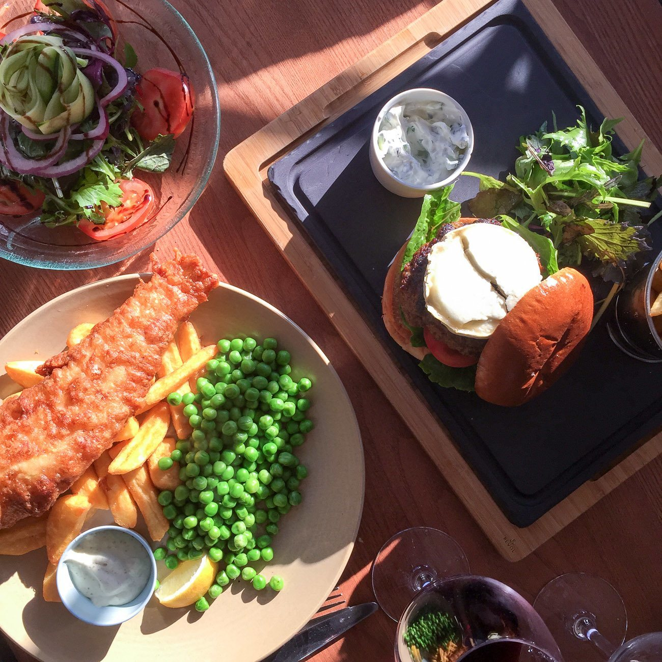 The Exchequer Pub is near Four Seasons Hotel Hampshire, England and absolutely delicious.
