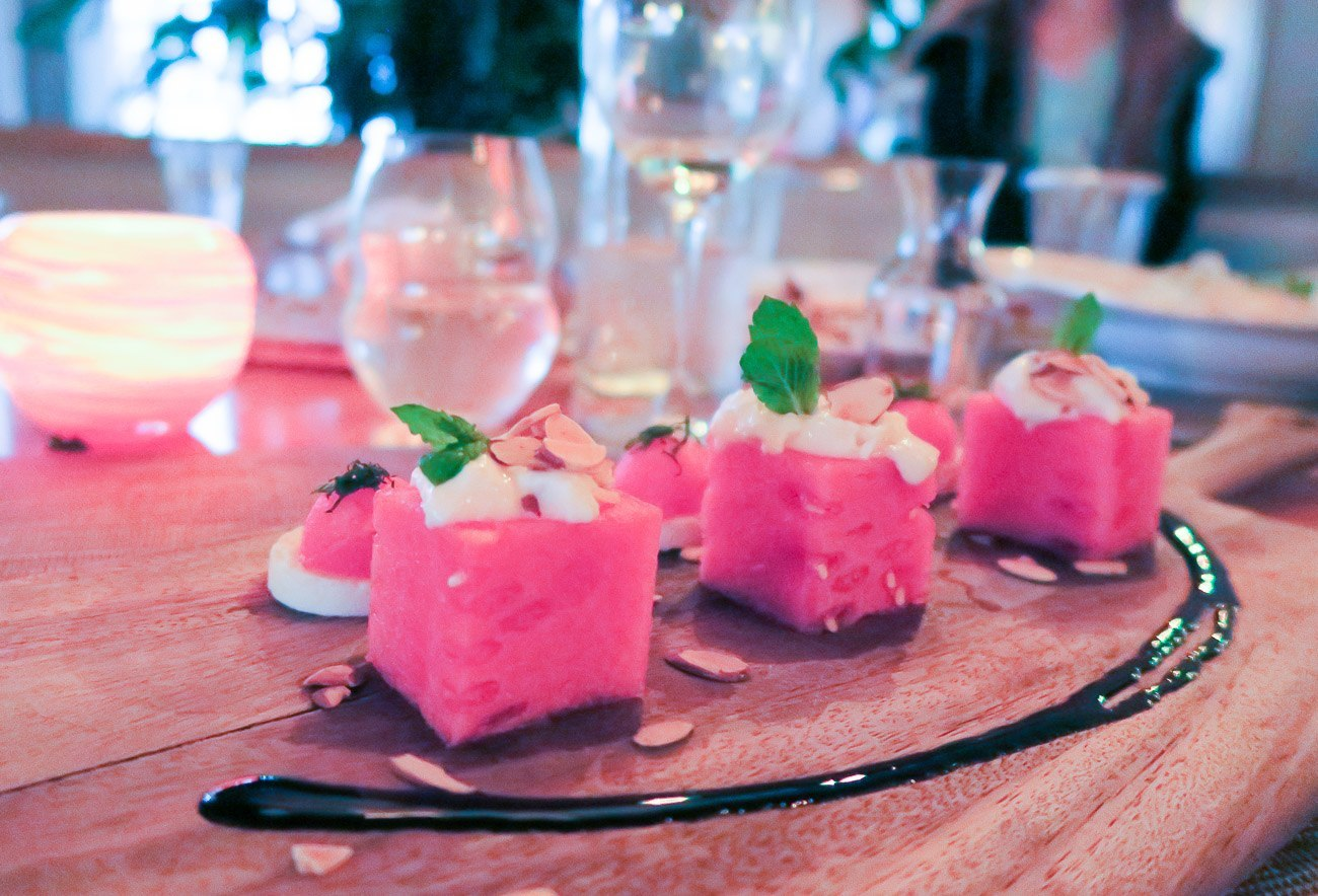 Acqua restaurant's watermelon salad was outstanding.