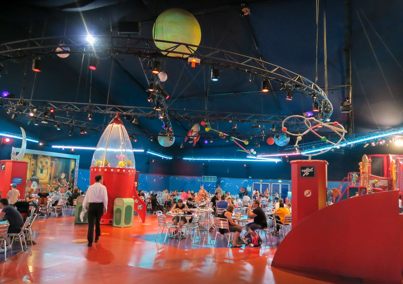 Don't dine at Buzz Lightyear's Pizza Planet at Disneyland Paris. Yuck.