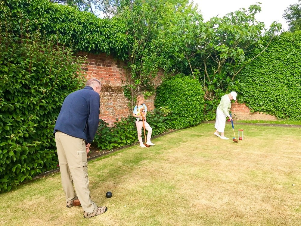 Four Seasons Hotel Hampshire has a croquet lawn that is open from April to September