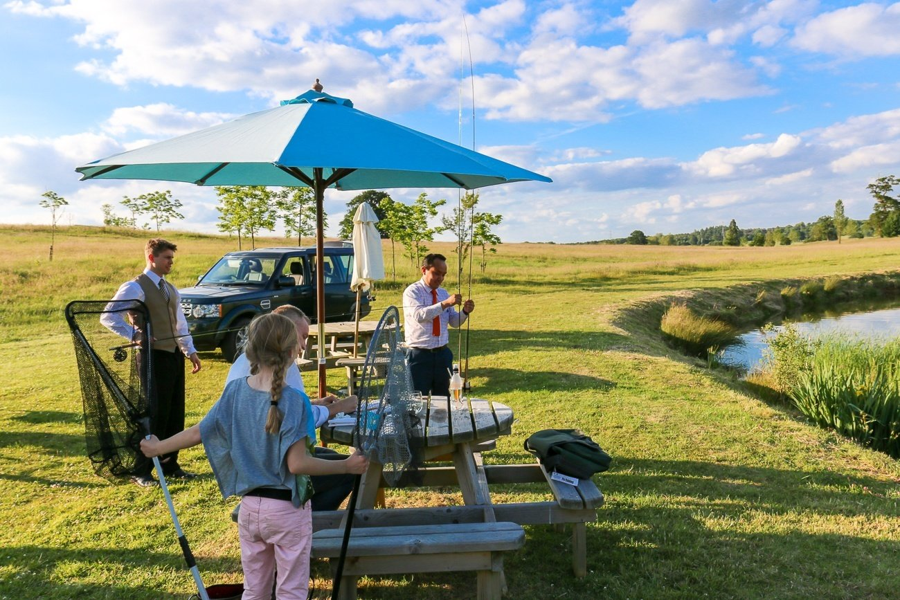 A picnic complete with fly fishing at Four Seasons Hotel Hampshire, England