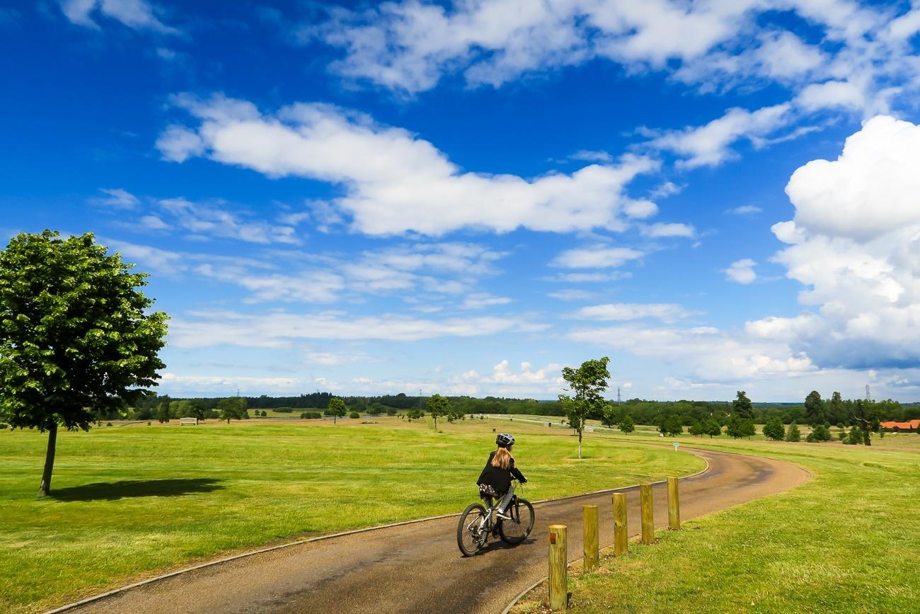 Riding bikes at Four Seasons Hotel Hampshire, England