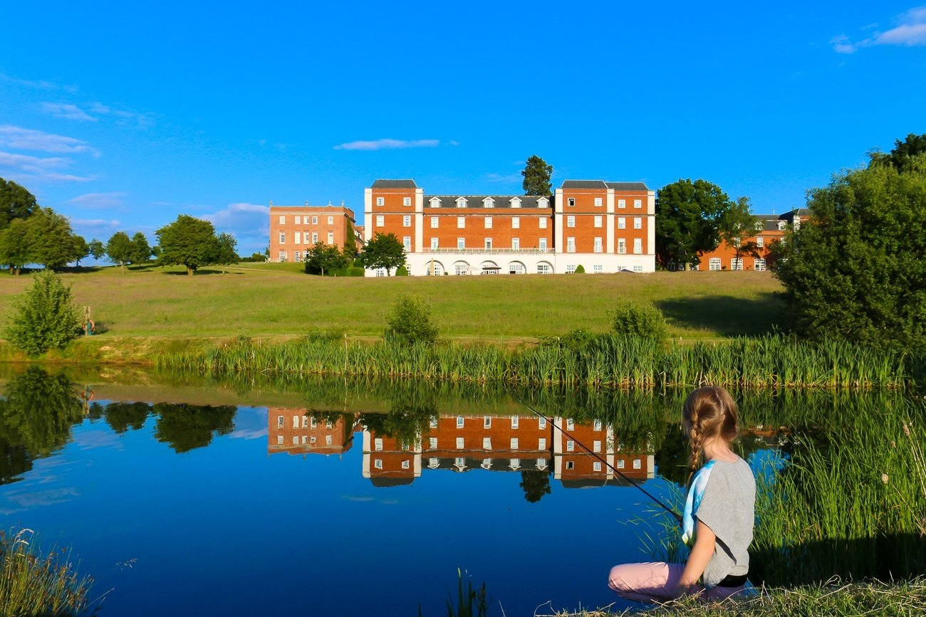 We tried fly fishing at Four Seasons Hotel Hampshire, England