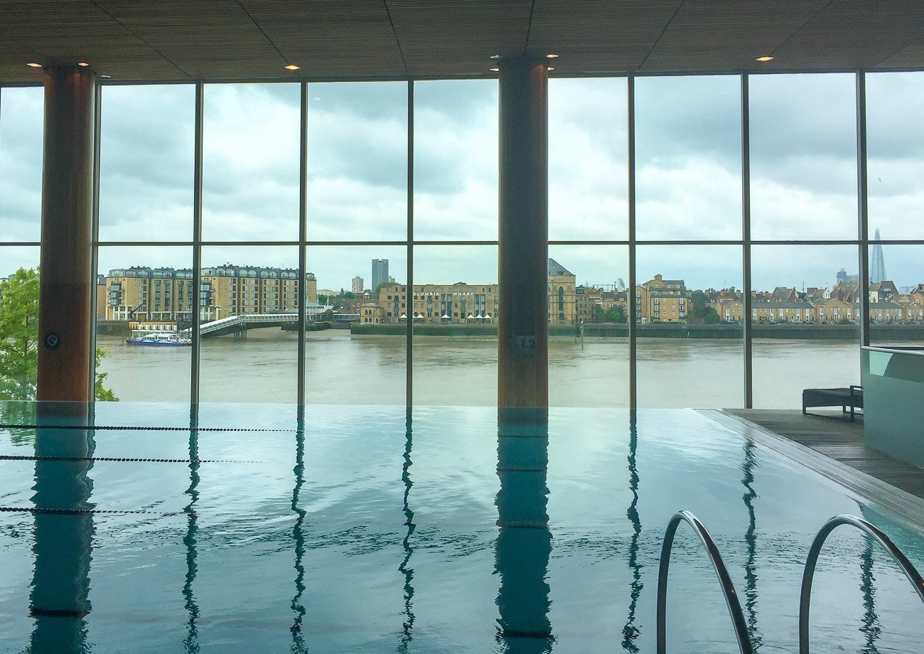 The Four Seasons Hotel London at Canary Wharf swimming pool was featured in the James Bond film Skyfall!