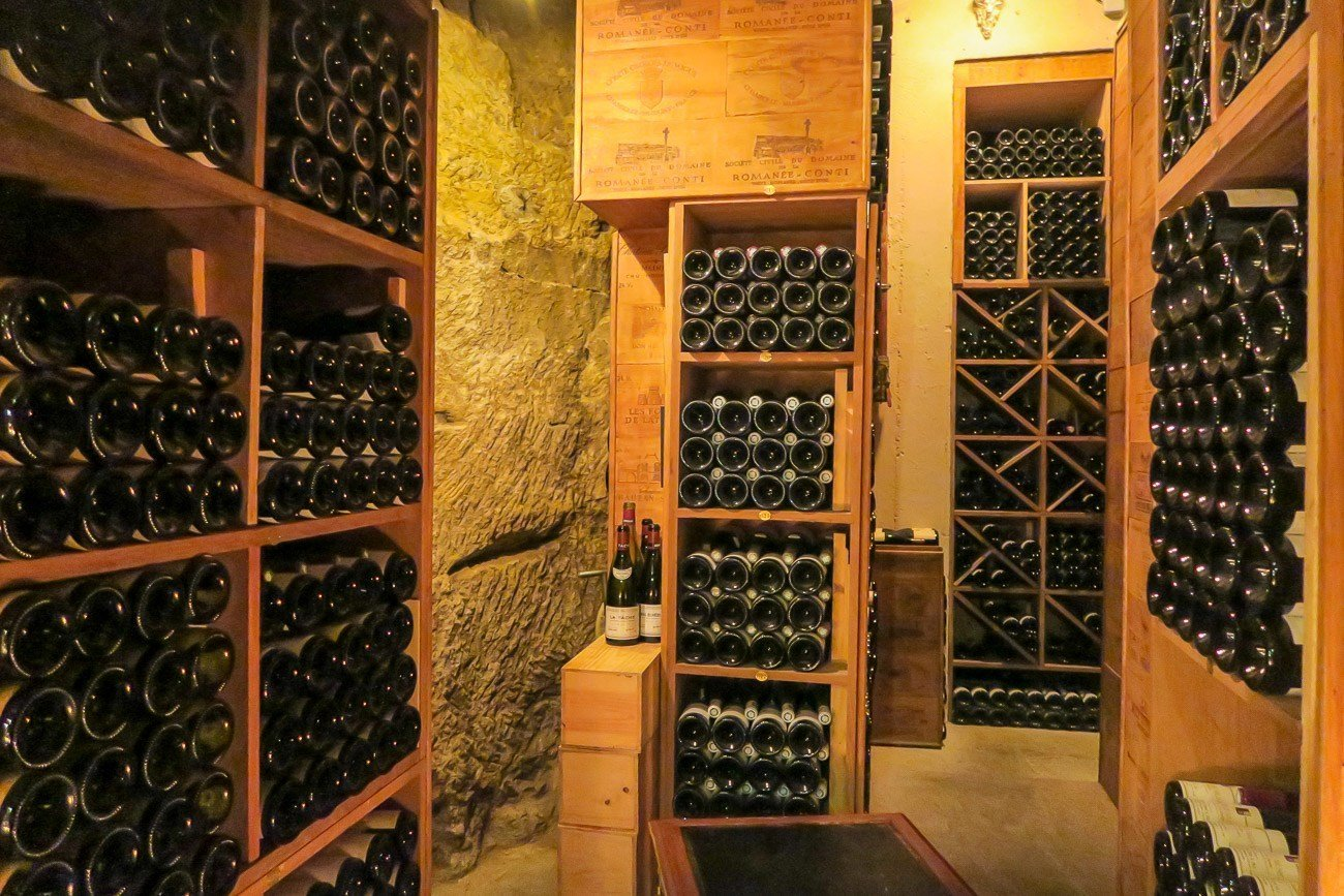 The Le Cinq wine cellar was formerly a quarry used to mine rock to build the Arc de Triomphe