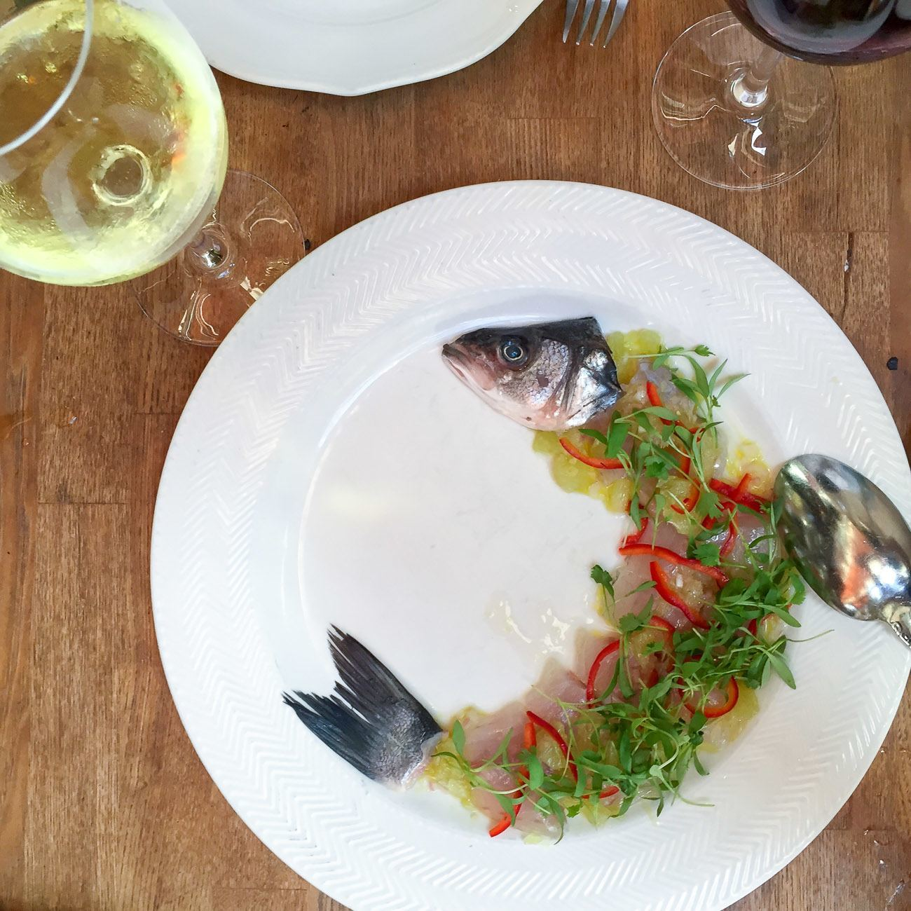 Whole fish ceviche at Herringbone La Jolla