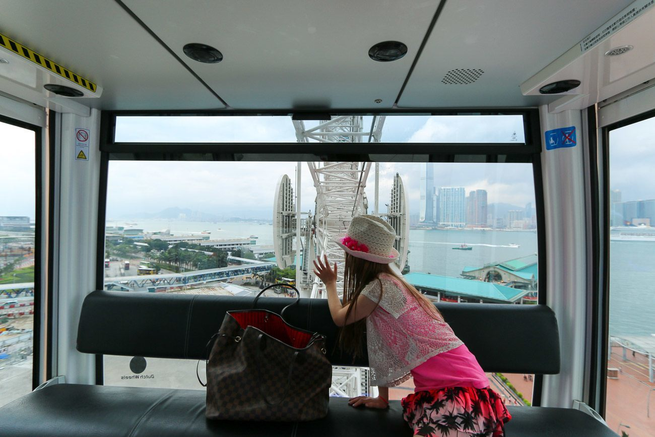 Ride the Hong Kong Observation Wheel when on a family vacation to Hong Kong. Kids will love it.