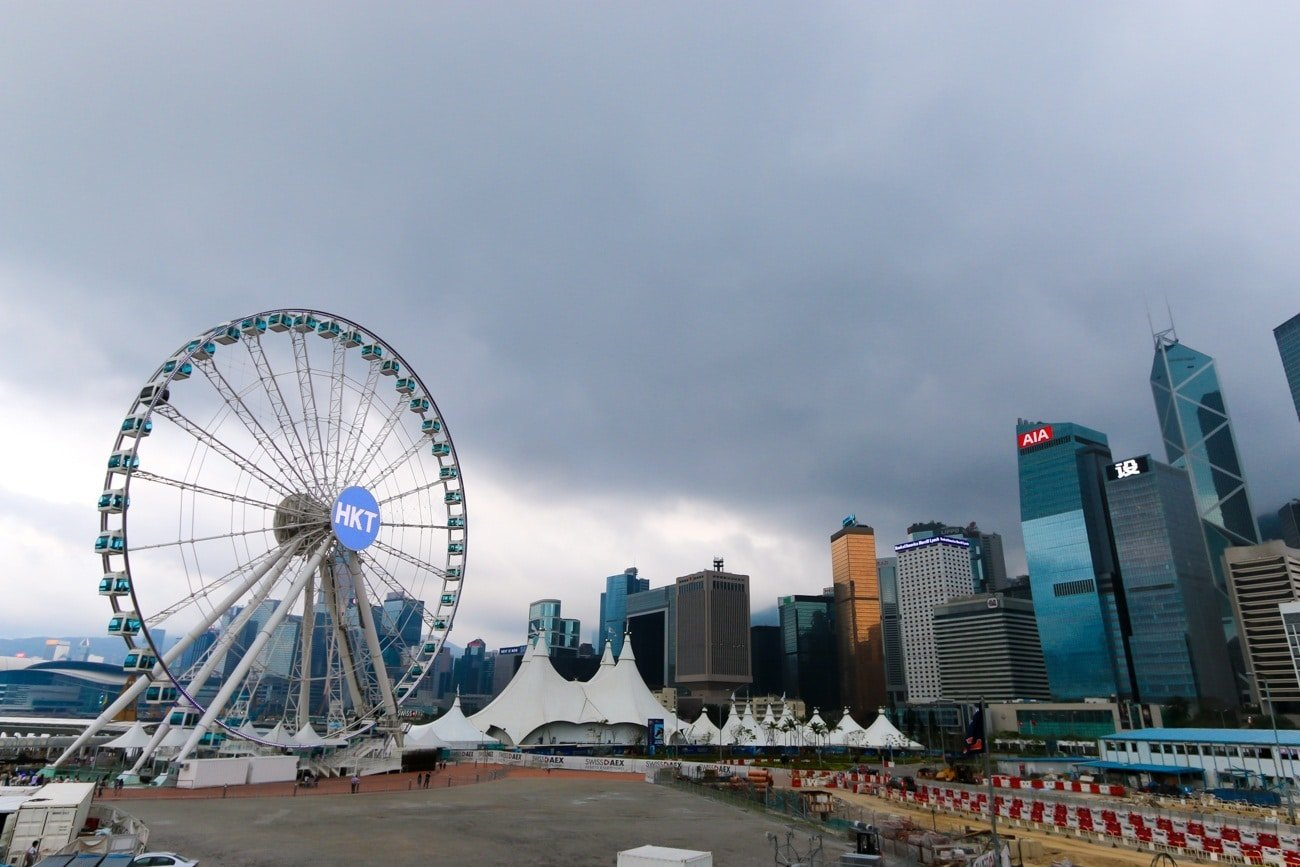 The Hong Kong Observation Wheel in Central along Victoria Harbour is a fantastic new attraction