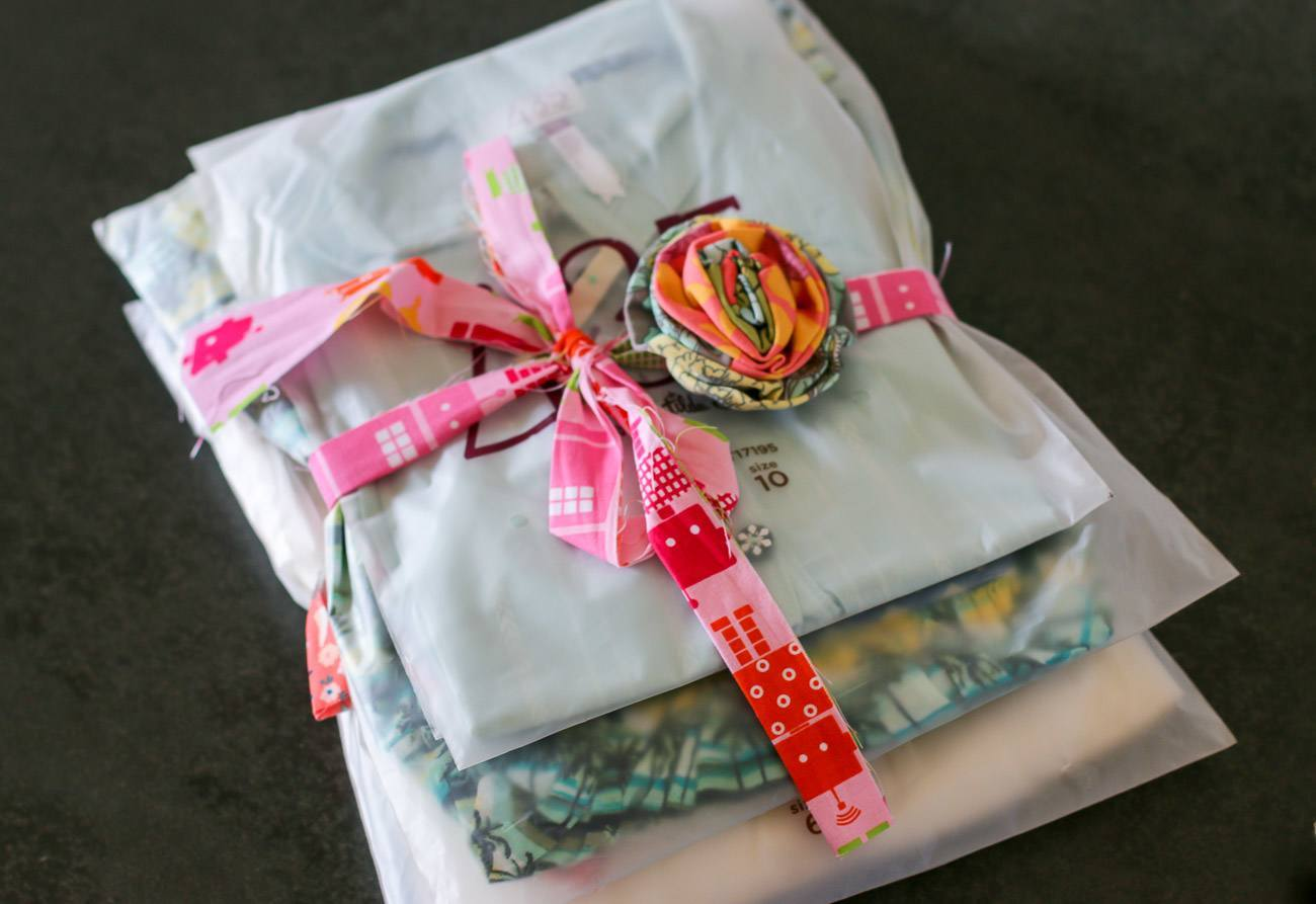 Our order from Matilda Jane Clothing came packaged with flourish. So cute.