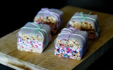 Making ice cream sandwiches out of Rice Krispie treats and Dreyer's Grand is an easy summer dessert with this recipe.