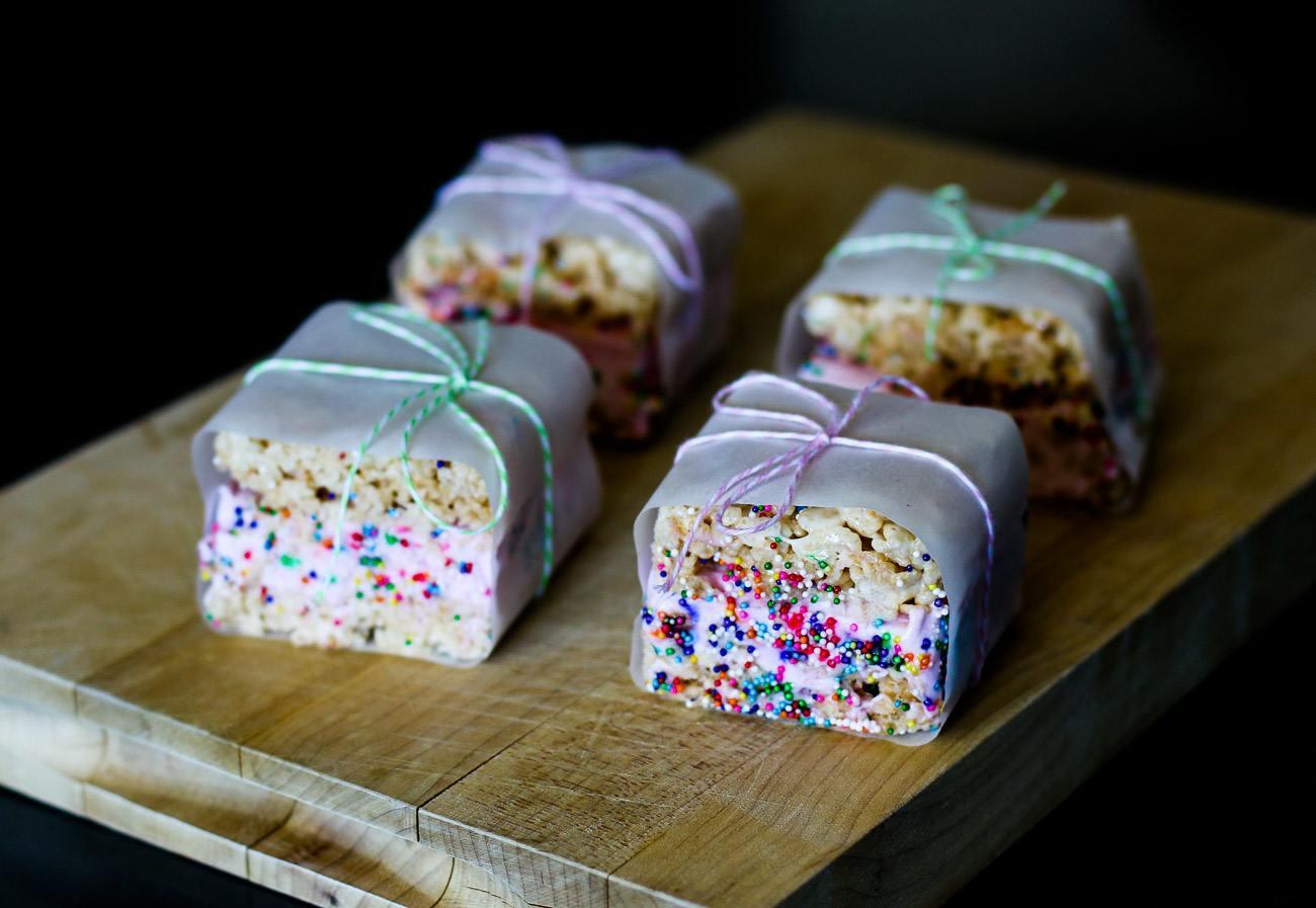 Recipe Rice Krispie Treat Ice Cream Sandwiches La Jolla Mom