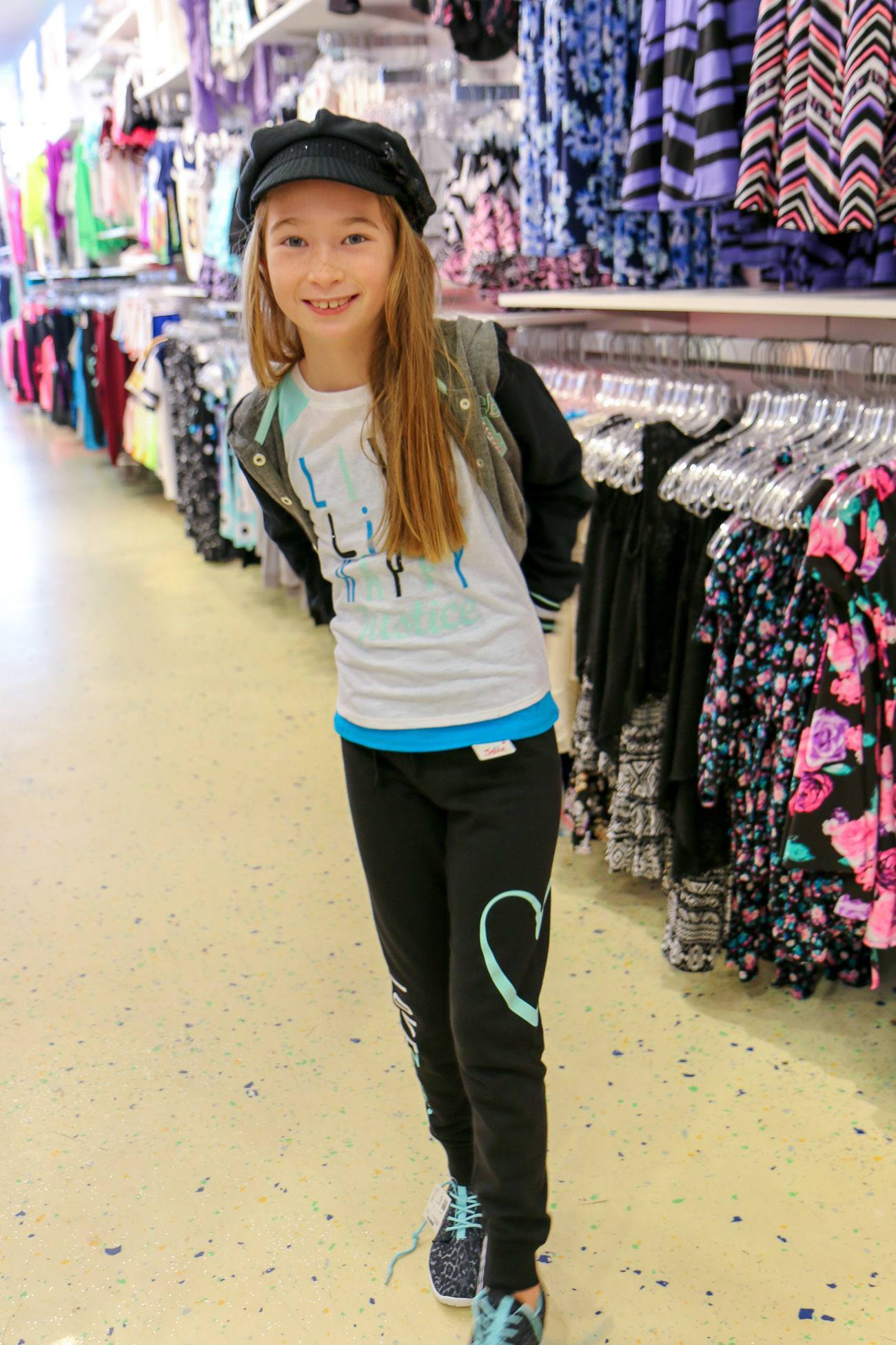Activewear at Justice for girls that is part of their fall back-to-school clothing line.