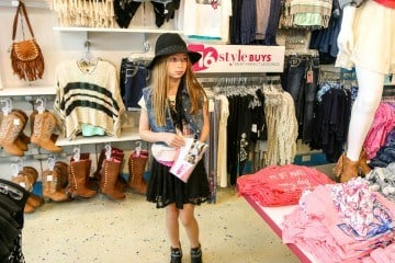 Four looks from the Justice back-to-school clothing for girls