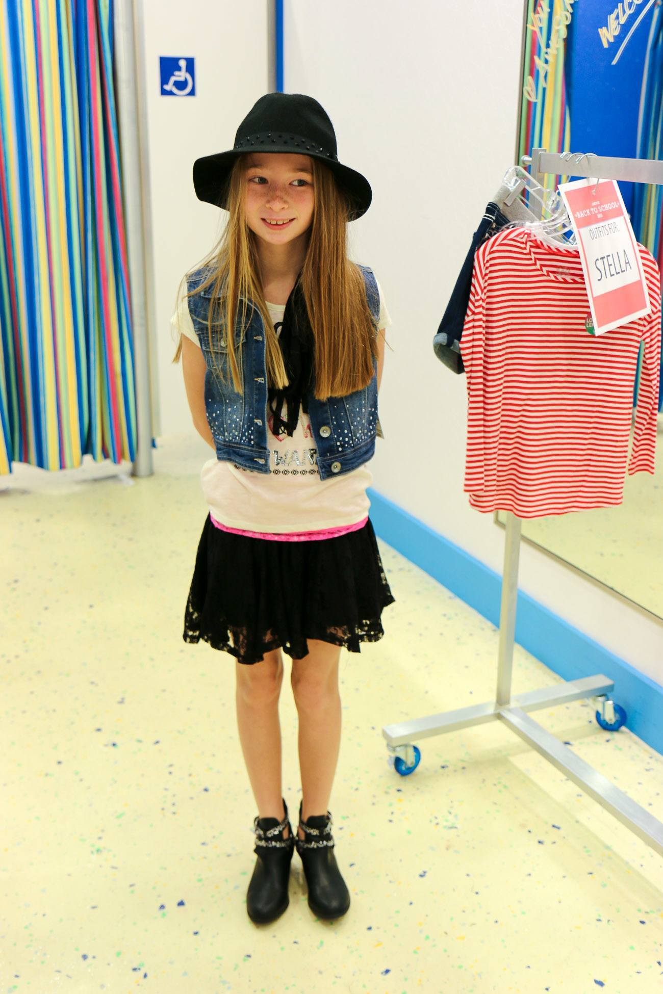 My daughter's favorite outfit from the Justice back-to-school fall line of clothes for girls